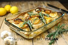 The Slow Roasted Italian - Printable Recipes: Rosemary Lemon Roasted Chicken Breasts