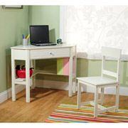 $78 Addison 2-Piece Corner Study Set, White
