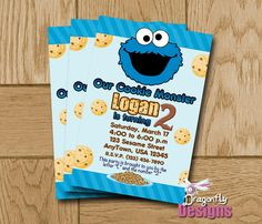 Boys or girls personalized cookie monster shirt by londonstitches printable cookie monster sesame street by dragonflydesignsx 1000 invitation filmwisefo