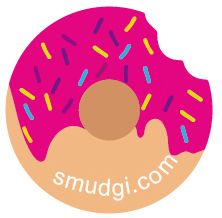 Smudgi.com - Doh'nut Sticky Patch Pack of 10 phone cleaner stickers, cite with jujube tokidoki donutella