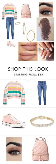 """""""Simple 70s"""" by lozoya-linda on Polyvore featuring Levi's, Converse, Finesque, MICHAEL Michael Kors and Bony Levy"""