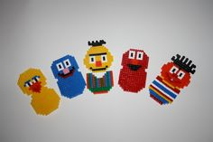 Sesame Street characters hama perler by Gute-Laune Shop