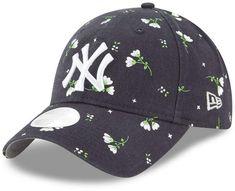 new style aa58c c3fc7 Women s New York Yankees New Era Navy Blossom Adjustable Hat