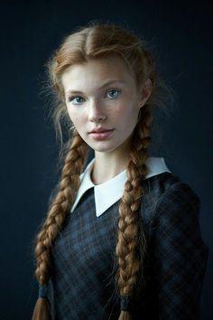 "oliviascharmedlife: ""Dasha (Daria Milky) Real life Anna from Frozen """