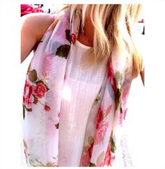 White Floral Scarf by TheRoyalBowtiqueShop on Etsy, $20.00