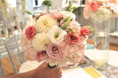Pink and Coral Bouquet by Unico Decor Inc. www.unicodecor.com