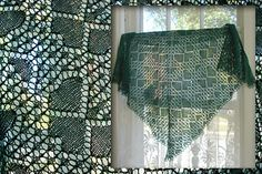 Ravelry: Project Gallery for Trifolium Design pattern by Marianne Kinzel. Knitted Square shawl; I have this pattern