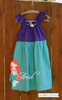 Ideas diy clothes for kids dresses tutus for 2019 Disney Princess Outfits, Disney Dresses, Disney Outfits, Kids Outfits, Girls Dresses, Sewing Kids Clothes, Diy Clothes, Kids Dress Collection, Ariel Dress