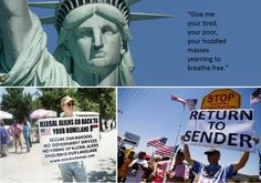 """I think they've forgotten their history. The statue of Liberty has a quote """"Give me your tired, your poor, your huddled masses yearning to be free."""" In 2014, Americans lashed out specifically at immigrant children from other countries."""
