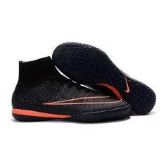2016 Nike Mercurial X Proximo Street IC Botas De Futbol Indoor Negro Naranja 90b24950b748d