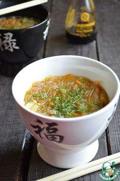 Густой грибной суп с фунчозой