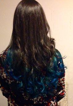 Puntas californianas azules por Anita spacio salón