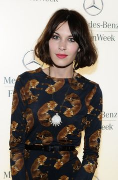 Alexa Chung Model Alexa Chung attends the Mercedes-Benz Fashion Week Fall 2011 Official Coverage at Lincoln Center on February 10, 2011 in New York City.