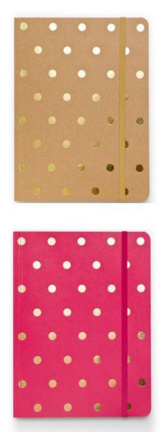 Polka dot notebooks by Sugar Paper