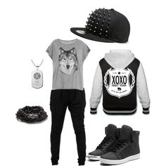 """EXO """"Wolf"""" inspired look. Love the jacket and the hat especially!"""
