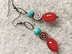 handmade beaded earrings women drop dangle earrings by fatash1
