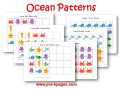 Printable Ocean Pattern Activity for #preschool and #kindergarten