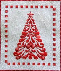about 39 feathered christmas 39 tree applique wall hanging ...