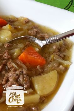 German Potato and Cabbage Soup perfect any time of the year. Check out http://www.quick-german-recipes.com/potato-and-cabbage-soup.html  ❤️it!