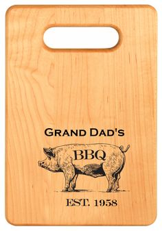 These personalized cutting boards make a perfect gift for the chef or BBQ master in your family! Personalize with a name or nickname! Bamboo Cutting Board, Cutting Boards, Personalized Cutting Board, Personalized Christmas Gifts, Animal Jewelry, Unique Gifts, Bbq, How To Make, Accessories