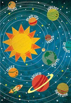 Solar System 13in x 19in unframed print by MingleStudios on Etsy, $30.00