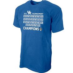 Kentucky Wildcats 2017 SEC Champs TShirt Blue - M #KentuckyBasketball #bbn #kentuckybball #UofK #uk #marchmadness #ncaatourney #universityofKentucky#KentuckyBasketball #bbn #kentuckybball #UofK #uk #marchmadness #ncaatourney #universityofKentucky