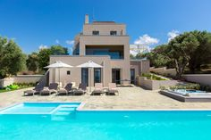 Villa Naya in Rethymno, Crete. #villa #greece #crete #vacationrental #luxury #private #pool #island #sea #view