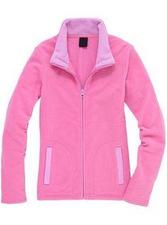Pink Collision Color Slim Collar Cardigan Sweatshirt$43.00