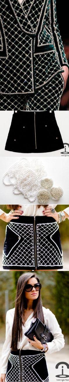 DIY: Balmain inspired skirt