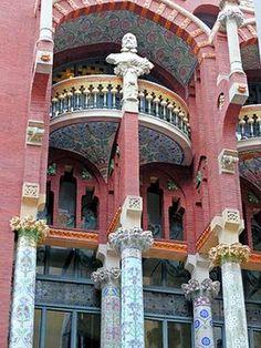 Barcelona, Spain. -Palau de la Música Catalana [music palace], St. Pere Mes Alt, Barcelona, Spain