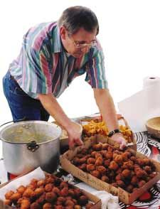 Pappy's Hushpuppies recipe--will have to try these!  Sound yummy and easy!