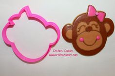 Monkey & Banana Cookie Cutters Cristin's Cookies: I'm BANANAS For You. Cookie cutters in stock at www.cristinscookiecutters.com #cookiecutter
