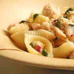 Pasta Shells with Tuscan Tuna Recipe | MyRecipes.com