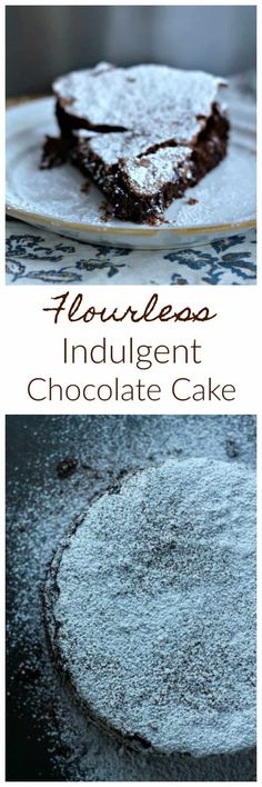 Flourless Indulgent Chocolate Explosion Cake!  Pure Chocolate Heaven! It's a super moist, chocolate fudge cake with a very dainty, crisp crust enrobing the cake. It reminds me of a delectable chocolate cloud of heavenly bliss and it's insane with chocolate explosions of love in every bite!#chocolate #flourless #cake #heaven #chocoholics #baking #valentinesday