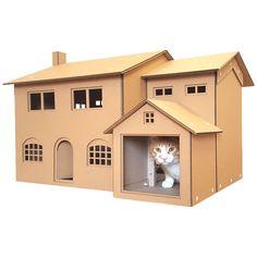 68 best cardboard cat house images cardboard cat house carton box rh pinterest com
