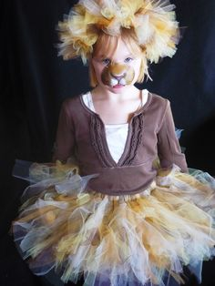 The Lion Queen - Custom Tutu and Headband set - Sewn and Super Full - Unique Costume - your choice of colors and length. Couldn't be too hard to make. Cute Baby Costumes, Dance Costumes Kids, Unique Costumes, Halloween Make, Halloween Costumes, Lion Costumes, Lion King Costume, Lion King Party, Great Costume Ideas