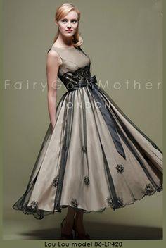 FairyGothMother - Fifties tea length wedding dress by Lou lou.