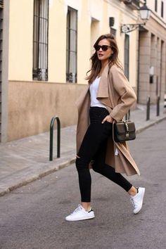 Usa Ahora Tus Zapatillas De Cuero Blancas Con Estas 25 Ideas