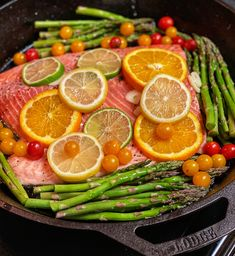 High-heat and one pan is all you will need to prepare this roasted salmon. Include your favorite vegetables and dinner is served! Lemon Recipes, Quick Recipes, Light Recipes, New Recipes, Holiday Recipes, Healthy Recipes, Yummy Recipes, Healthy Meals To Cook, Healthy Cooking