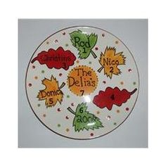 Falling Leaves Personalized Platter