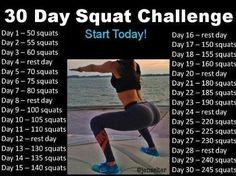 30 Day Squat Challenge