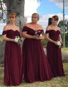 Burgundy Bridesmaid Dresses Long, Bridesmaid Dresses Plus Size, Burgundy Wedding, Bridal Dresses, Prom Dresses, Bridesmaids, Wedding Gowns, Vintage Bridesmaid Dresses, Dress Prom