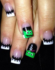 The Frankensteins nail art