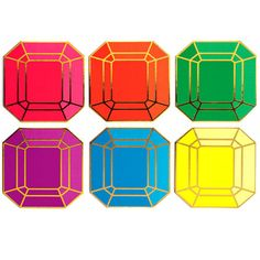 These gem-inspired paper coasters from Kate Spade add sparkle to any coffee table.