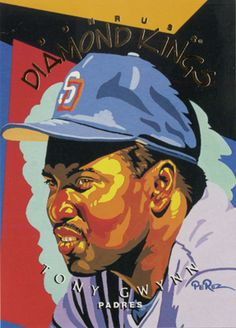 """Tony Gwynn"" for Donruss Diamond Kings baseball card series in 1995 by Dick Perez"