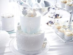 Our sons Christening - Ristiäiset Christening Party, Yummy Cakes, Glass Of Milk, Panna Cotta, Ethnic Recipes, Beautiful, Party Ideas, Instagram, Ideas Party