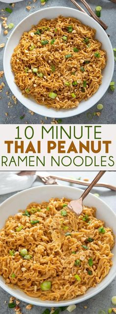 Thai Peanut Ramen Noodles Thai Peanut Ramen Noodles gives instant ramen a makeover with a mouthwatering peanut sauce! This easy ramen noodles recipe is ready in ten minutes! The post Thai Peanut Ramen Noodles appeared first on Nudeln Rezepte. Easy Appetizer Recipes, Vegetarian Recipes Easy, Easy Dinner Recipes, Easy Meals, Cooking Recipes, Healthy Recipes, Thai Food Recipes Easy, Easy Noodle Recipes, Top Ramen Recipes