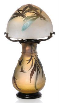 Emile Gallé ~ Libellule Cameo lamp ~1900  Find out what your treasure is worth at Free Appraisal Day at BlueVault San Diego http://www.bluevaultsecure.com/roadshow-events-bluevault-san-diego.php