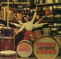 Dickie Harrell - Drums and More Drums, 1962