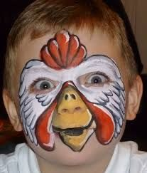 Afbeeldingsresultaat voor goat face painting Chook chicker face